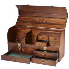 Utility case Jewellery Boxes, Jewelry Tools, Jewelry Box, Jewelry Storage, Bead Storage, Wedding Jewelry, Vintage Jewelry, Jewelry Making, Wood Tool Box