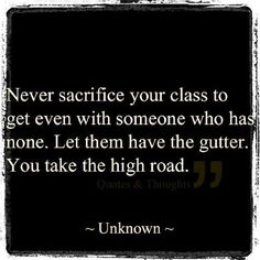 Everyone should have a little class
