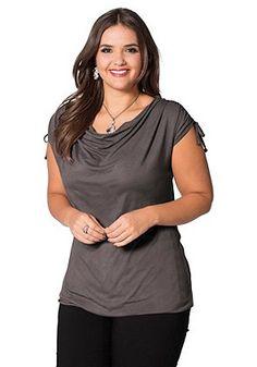 sheego Style Feminines Shirt taupe in großen Größen