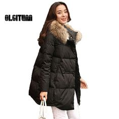 23.79$  Watch here - http://aliw8n.shopchina.info/go.php?t=32779903430 - Hot 2016 New winter women Coats & Jackets Fur collar Hooded Parka Winter solid color Down Cotton Coat Warm Cotton jacket 3XL  #magazineonline