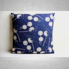 Dandelion Pillow Cover, Pillow Cover, Decorative Pillow Cover, Pillow Case, Cushion Cover,Linen Pillow Cover,Throw Pillow,18x18 Pillow Cover