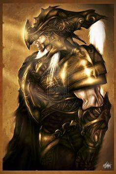 Fantasy Knight Armor   Golden Armor Knight by ~mlappas on deviantART