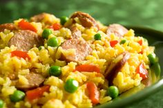 Yellow Rice and Sausage  * made this tonight and was big hit; instead of Vigo rice, made own yellow rice from here: http://www.food.com/recipe/saffron-yellow-rice-mix-408295