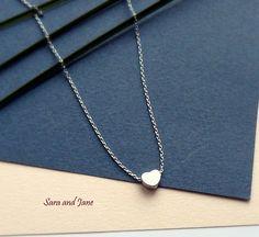 SALE  Tiny heart necklace Small heart necklace by SaraAndJane