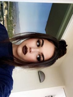 Love the lipstick! Makeup Goals, Makeup Inspo, Makeup Inspiration, Makeup Tips, Beauty Makeup, Hair Beauty, Flawless Makeup, Skin Makeup, Black Lips Makeup
