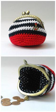 #crochet pouch, coin #purse by GrannyKnowsBest
