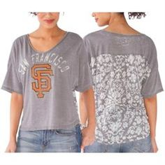 San Francisco Giants Women's Gray Maverick T-Shirt