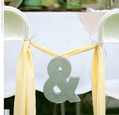 instead of bride and groom signs