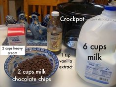 Crock pot hot chocolate.  Great for a large group!