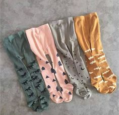 READY TO SHIP!  Little girls unique tights, clouds, horses, stars and moon, geometric shapes, 2 sizes available