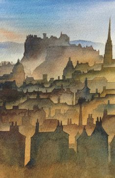 Scotland - Ian Scott Massie: painter and printmaker Illustration Sketches, Urban Sketching, Art Festival, Drawings, Watercolor Paintings, Painting, Sketch Inspiration, Scottish Art, Watercolor Paintings Easy