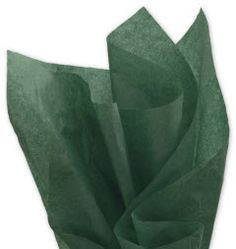 Solid Tissue Paper Evergreen 20 x 30 • 480 sheets of solid color tissue paper per ream • Machine glaze finish • Contains on average 60% post-industrial and 10% post-consumer recycled content • Recyclable • Made in the USA