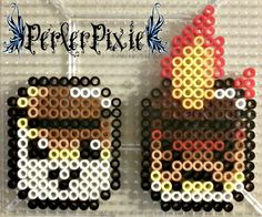 Roasted Marshmallows by PerlerPixie.deviantart.com on @DeviantArt