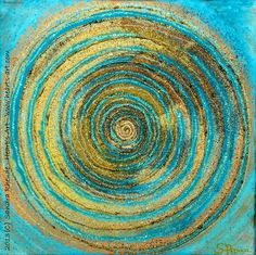 'Energiespirale' - - Acryl/MixedMedia auf Leinwand - 30 x 30 cm - € 90 - www. Pour Painting, Diy Painting, Arte Country, Mixed Media Canvas, Heart Art, Painting Inspiration, Diy Art, Modern Art, Abstract Art