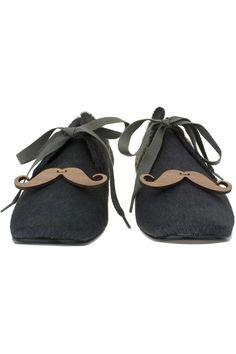 Stache shoes!!