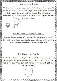 Clever Classroom: End of the Year Memory Book and Activities
