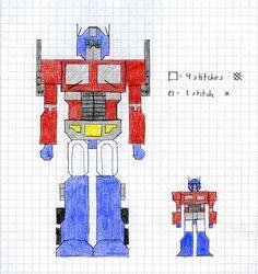 Optimus Prime xstitch patterns by crawdadEmily on DeviantArt