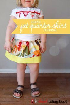 Simple Fat Quarter Skirt {a tutorial}