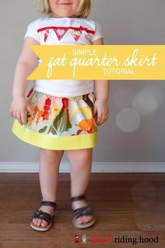 Cute Fat Quarter Skirt tutorial for ages 2-6!