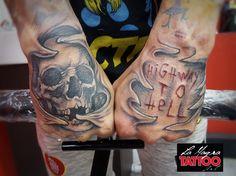 #skull #tattoo #highwaytohell #lamagratattoo