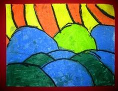 Kids Art Market: Warm and Cool Colors with Van Gogh
