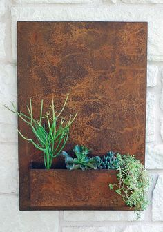 "20"" x 30"" Vertical Garden, Metal Succulent Wall Planter , Indoor / Outdoor Wall Decor (Free Shipping) on Etsy, $220.00"