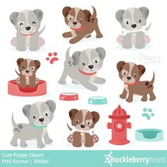 Puppy Clipart, Cute Clipart, Tiny Puppies, Cute Puppies, Puppy Care, Pet Care, Cutest Puppy Ever, Animal Templates, Cute Puppy Breeds