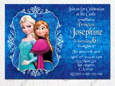 Frozen Birthday Party Frozen Invitation Disney by BogdanDesign, $7.99