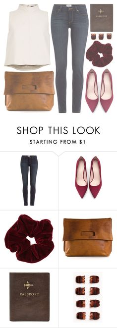 """""""Untitled #403"""" by chantellehofland ❤ liked on Polyvore featuring Paige Denim, Zara, Miss Selfridge, Maison Margiela, FOSSIL, Forever 21 and TIBI"""