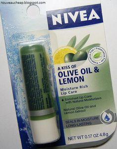 A Kiss of Olive Oil & Lemon Moisture Rich Lip Care | Nivea