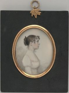 "Portrait of a Lady (ca. 1813, William P. Sheys, Watercolor on ivory, 3 1/4"" x 2 5/8"", MET)  [Source: metmuseum.org]"