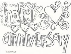 happy anniversary cards to color