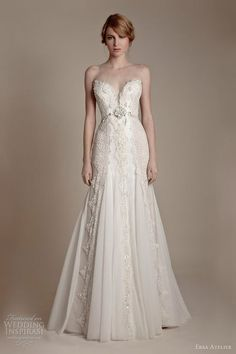 ersa atelier wedding dresses 2013 strapless sweetheart french lace tulle | http://princessdresscollections.blogspot.com