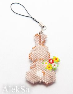 Beaded Easter Bunny back Pattern