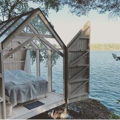 Tiny Glass House: 15 tiny houses with a view of the world – Amazing Glasses House Ideas & Glasses House Trends 2020 Outdoor Spaces, Outdoor Living, Outdoor Bedroom, House Ideas, Gravity Home, Lake Photos, Garden Cottage, Glass House Garden, Cabins In The Woods