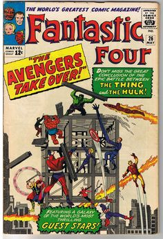 FANTASTIC FOUR #26, FN/FN+, Hulk vs Thing, Avengers, 1961, more FF in store #ComicBook