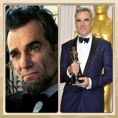 Daniel Day-Lewis with his Oscar for (Lincoln) movie 2013.