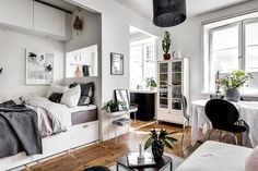 Studio apartment with sleeping nook