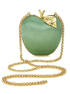 Anya Hindmarch green apple clutch.