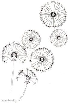dandelion pattern. Free embroidery transfer patterns flowers