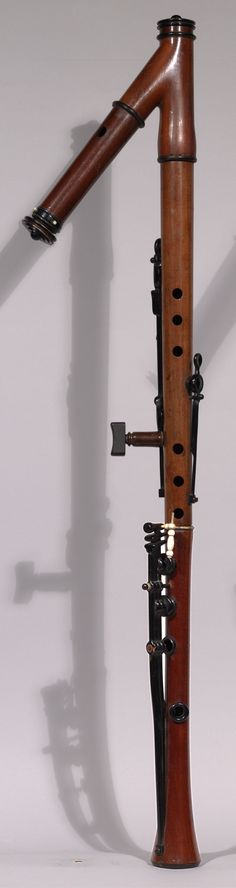 Alto Flute in G - front view - (Burghley, 1845) Do you realize how much air it would take to play this? After one song you'd pass out.