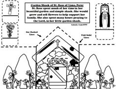 1000 images about catholic cutie on pinterest calendar for St rose of lima coloring page