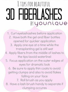Younique 3D Fiber Lashes Mascara dramatically enhances and magnifies the appearance of your own lashes. www.youniqueproducts.com/meaganlive