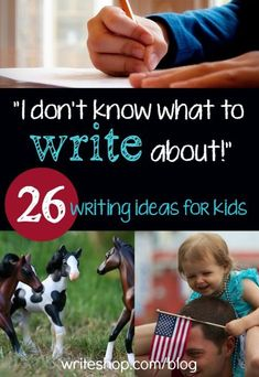 "When the kids say, ""I don't know what to write about,"" look no further than these creative writing warm-ups, prompts, and other writing ideas. writing, writing ideas, creative writing ideas Blog Topics"