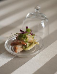 #ThrowbackThursday Scottish lobster cocktail. Heirloom tomatoes Cox apple and avocado purée  #eventprofs