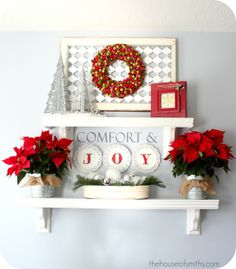 christmas mantel....in case you dont have a fireplace mantel. (: