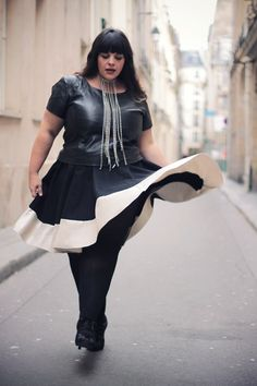 love that skirt... I would have paired it with a different top...or at least different cut of shirt