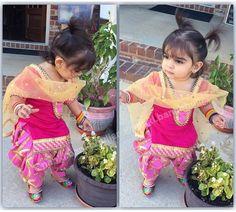 Latest Panjabi Shalwar Kameez Designs Dresses For Kids Collection Kids Indian Wear, Kids Ethnic Wear, Indian Baby, Kids Salwar Kameez, Shalwar Kameez, Patiala, Kids Collection, Baby Suit, Kids Suits