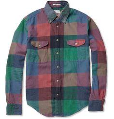 Gant Rugger Check Brushed-Cotton Button-Down Collar Shirt | MR PORTER