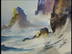 Watercolour Demonstration by Arnold Lowrey. Second Demonstration, Part 2. ST David´s Hall. Cardiff 09.